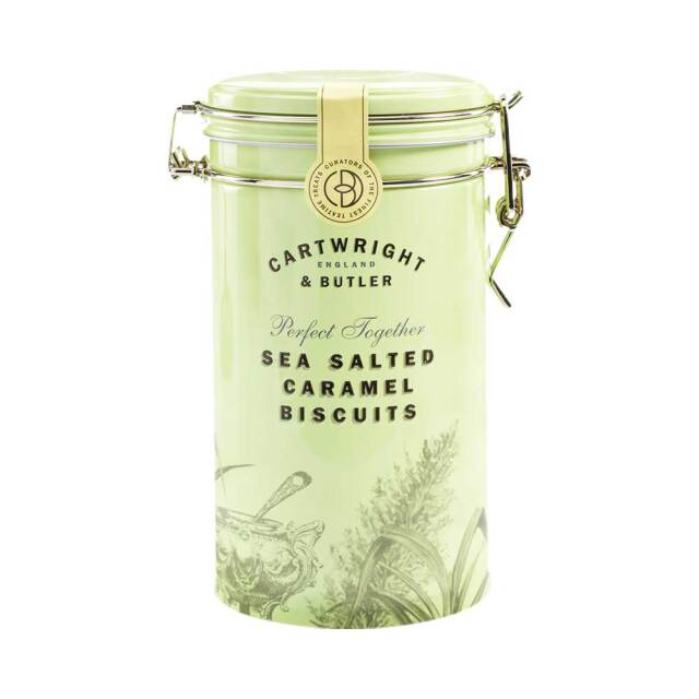 カートライト&バトラー【Cartwright & Butler】塩キャラメルビスケット(缶)