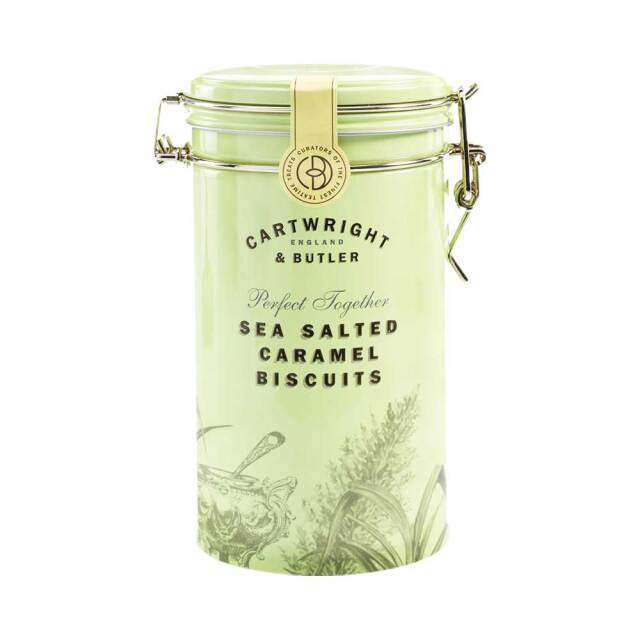 Cartwright & Butler 塩キャラメルビスケット(缶)