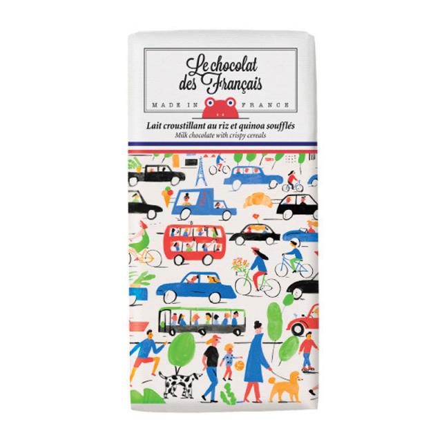 Le chocolat des Francais(ル・ショコラ・デ・フランセ)トラフィック/ミルク・クリスピーシリアル(カカオ41%) 80g