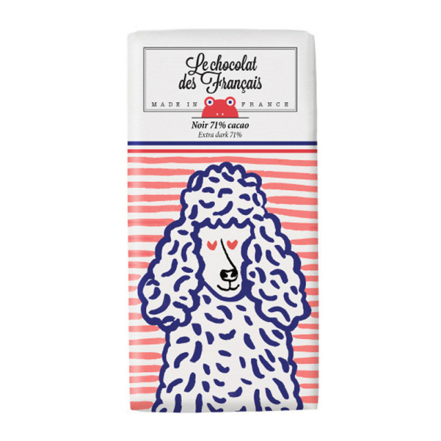 Le chocolat des Francais(ル・ショコラ・デ・フランセ)プードル/ダーク(カカオ71%) 80g