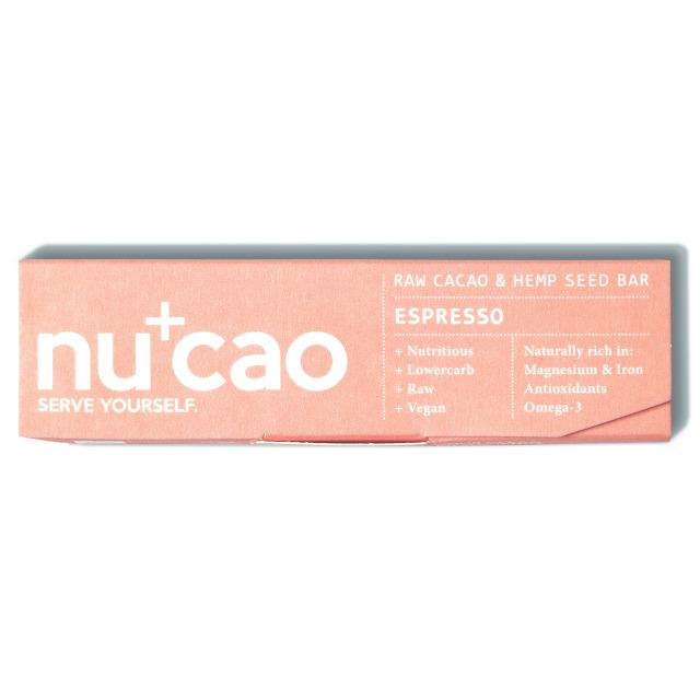 Espresso エスプレッソ Nucao チョコレート チョコ ヘンプシード アーモンド ルク アセロラ スーパーフード