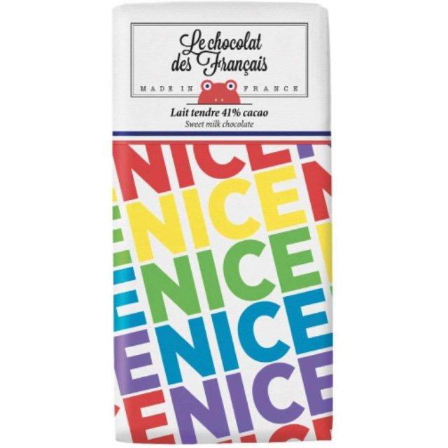 Le chocolat des Francais(ル・ショコラ・デ・フランセ)ナイス・マルチコロール 80g ミルク41% チョコ チョコレート フランス