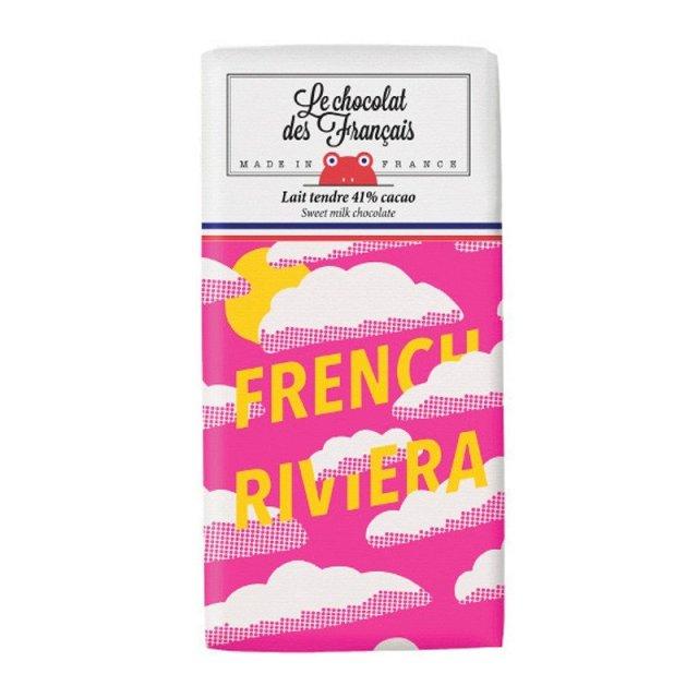 Le chocolat des Francais (ル・ショコラ・デ・フランセ) フレンチ・リビエラ 80g ミルク カカオ41% チョコ チョコレート フランス