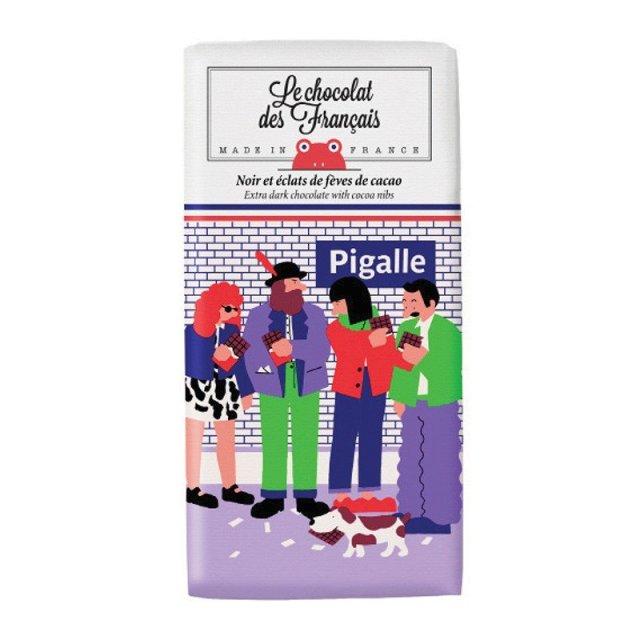 Le chocolat des Francais (ル・ショコラ・デ・フランセ) ピガール 80g ダーク・カカオニブ カカオ71% チョコ チョコレート フランス