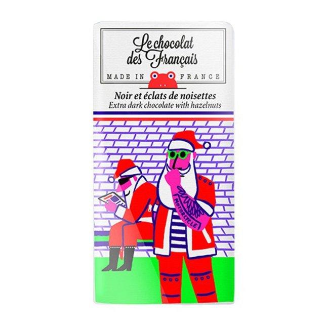 Le chocolat des Francais (ル・ショコラ・デ・フランセ) 読書 80g ダーク・ヘーゼルナッツ カカオ 71% チョコ チョコレート フランス