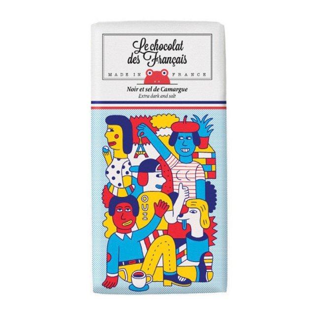 Le chocolat des Francais (ル・ショコラ・デ・フランセ) テトリス 80g ダーク・ソルト カカオ71% チョコレート フランス チョコ