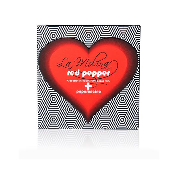 ラブダークチョコレートバー カカオ64% レッドペッパー入り ラ・モリーナ 40g La Molina S.r.l. イタリア 輸入 チョコ チョコレート