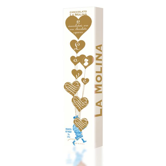 ラブチャイルド ブロンドチョコレート 12枚入り ラ・モリーナ 78g La Molina S.r.l. イタリア 輸入 チョコ チョコレート