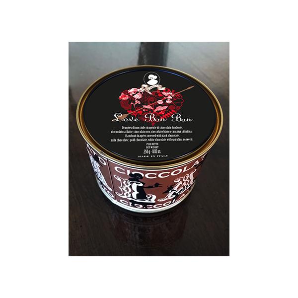 ボンボン・ショコラヘーゼルナッツ入り チョコレートアソート(ミルクチョコレート、ダークチョコレート、ブロンドチョコレート、スピルリナ入りホワイトチョコレート)ラ・モリーナ 250g La Molina S.r.l. イタリア 輸入 チョコ チョコレート