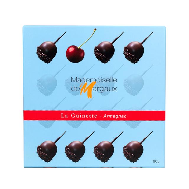 ラ・ギネット アルマニャック(ブランデー)チェリー 190g Mademoiselle de Margaux SAS フランス 輸入 チョコ チョコレート