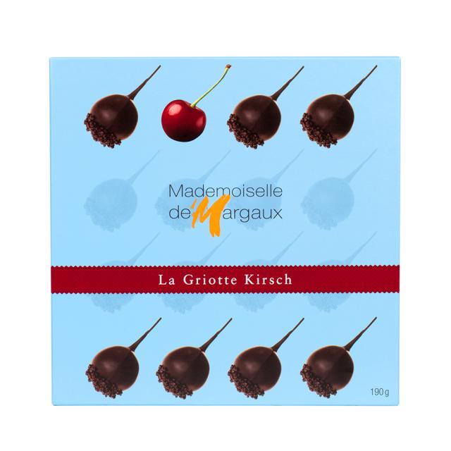 ラ・グリオット キルシュ(蒸留酒)チェリー 190g Mademoiselle de Margaux SAS フランス 輸入 チョコ チョコレート
