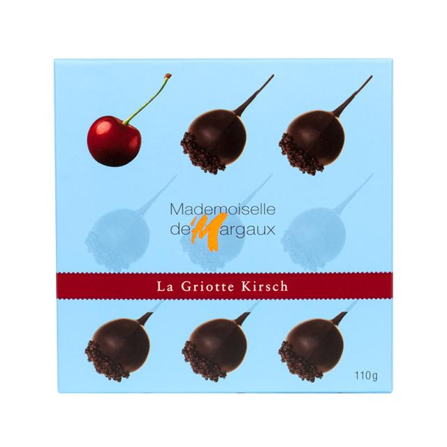 ラ・グリオット キルシュ(蒸留酒)チェリー 110g Mademoiselle de Margaux SAS フランス 輸入 チョコ チョコレート