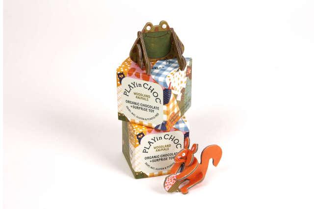 パズル付き オーガニックチョコレート(森の動物シリーズ) 20g PLAYin CHOC ltd イギリス 輸入 チョコ チョコレート