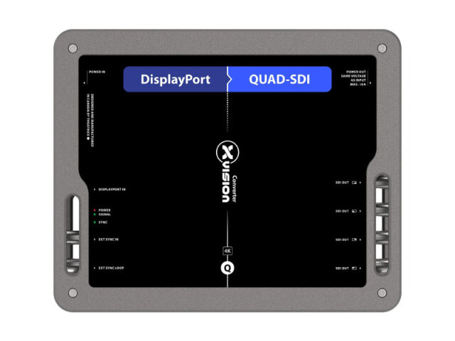 Theatrixx DisplayPort to Quad SDIコンバーター XVVDP2QSDI(DisplayPort to Quad 3G-SDI)