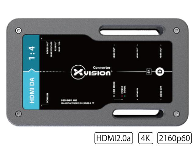 Theatrixx HDMI分配機1:4 XVVHDMIDAT1(HDMI DA 1:4 4K60)