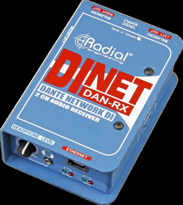 【在庫処分特価】 Radial Dante対応 2chオーディオ・レシーバ DiNET DAN-RX
