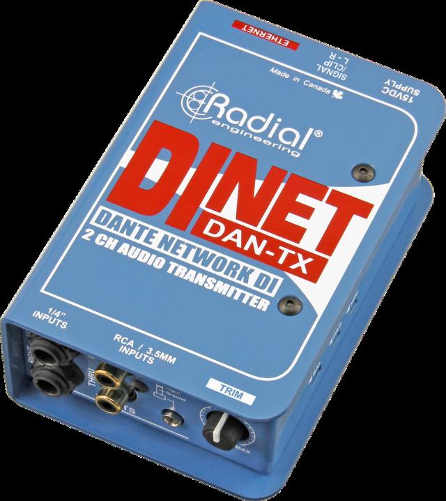 【在庫処分特価】 Radial Dante対応 2chオーディオ・トランスミッタ DiNET DAN-TX