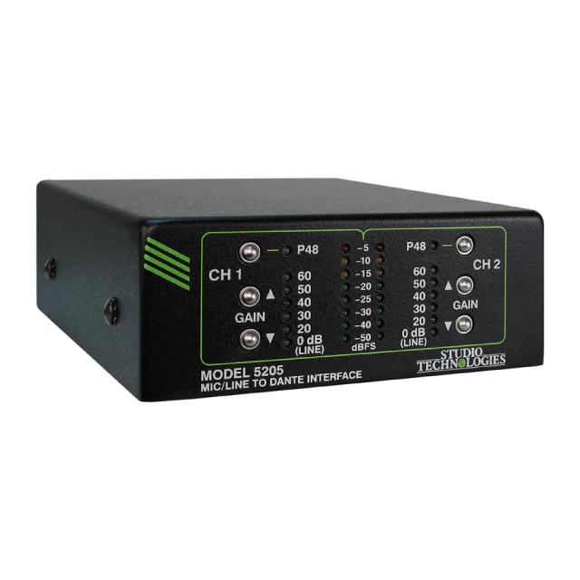 Studio Technologies マイク/ライン入力搭載 Danteインターフェイス Model 5205