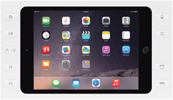 iPort 10ボタン付サーフェイスマウントベゼル + スプリッター (対応機種: iPad mini 4) Surface Mount mini 4 B10 White (製品番号: 70760)