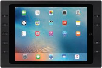 """iPort 10ボタン付サーフェイスマウントベゼル + スプリッター (対応機種: iPad Pro 12.9"""") Surface Mount Pro 12.9"""" B10 Black (製品番号: 70781)"""