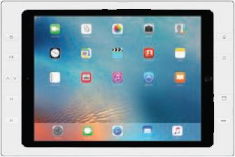 """iPort 10ボタン付サーフェイスマウントベゼル + スプリッター (対応機種: iPad Pro 12.9"""") Surface Mount Pro 12.9"""" B10 White (製品番号: 70783)"""