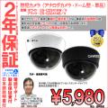 【2年保証】防犯カメラ(単品)・ドーム型・暗視型・業務家庭用|高画質52万画素・選べる2種レンズ・色|ES-CD241A