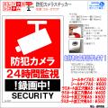 防犯カメラステッカー|シール・ラミネートタイプ|お名前・お会社名印字可|A4・A5サイズ|24時間監視・録画中|ES-ST01T