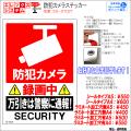 防犯カメラステッカー|シール・ラミネートタイプ|お名前・お会社名印字可|A4・A5サイズ|万引きは警察に通報|ES-ST02T