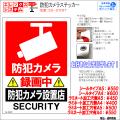 防犯カメラステッカー|シール・ラミネートタイプ|お名前・お会社名印字可|A4・A5サイズ|防犯カメラ設置店|ES-ST04T