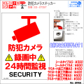 防犯カメラステッカー|シール・ラミネートタイプ|お名前・お会社名印字可|A4・A5サイズ|録画中・24時間監視|ES-ST05T