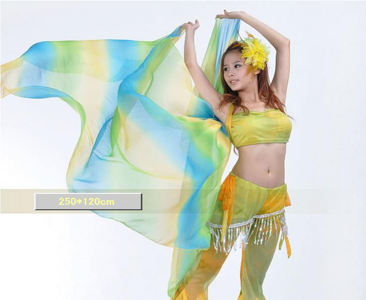 ベリーダンス☆シフォンベール250*120cmグラデーションB4-3_23【ネコポス便送料無料】