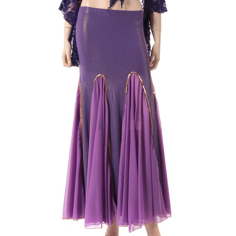 ベリーダンス衣装スカートD7(パープル)(ゴールド/シルバー)【宅配便送料無料】