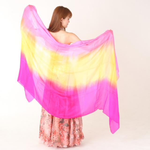 高級シルクベールR5-20Lサイズ276cm*110cm(3色ピンク、イエロー、ローズ)【ネコポス便送料無料】