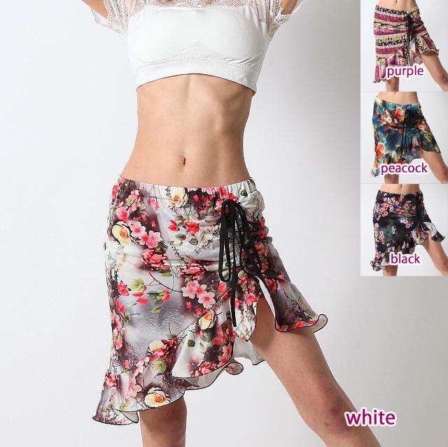 オーバースカートSK56フラワープリント(4 colors)【ネコポス便送料無料】