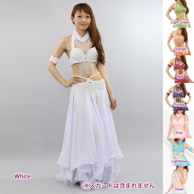 ベリーダンス衣装コスチュームCH-COSB-A11ブラ&ベルト2点セット(アームバンド、ネックレス付)【宅配便送料無料】