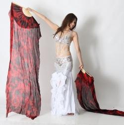 シルクファンベールFAN2-4(Tie dye-Black*Red)【宅配便送料無料】