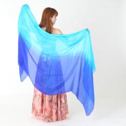 高級シルクベールR10-8サイズ236cm*110cm(2色ライトブルー、ブルー)【ネコポス便送料無料】