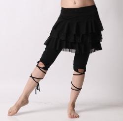 オーバースカートSK36レースティアード(3192)(black)【ネコポス便送料無料】