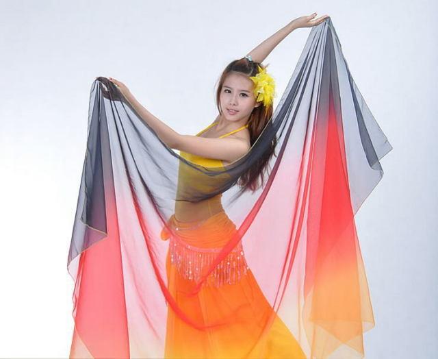 ベリーダンス☆シフォンベール250*120cmグラデーションB4-1_26【ネコポス便送料無料】