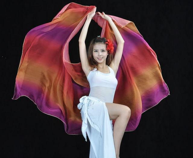 ベリーダンス☆シフォンベール250*120cmグラデーションB4-2_27【ネコポス便送料無料】