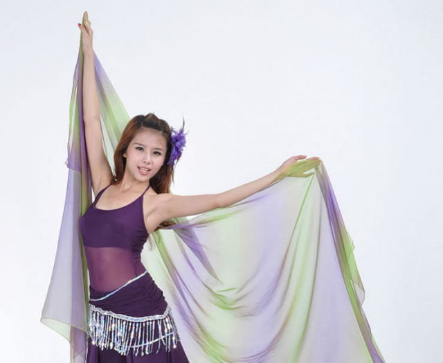 ベリーダンス☆シフォンベール250*120cmグラデーションB4-5_14【ネコポス便送料無料】