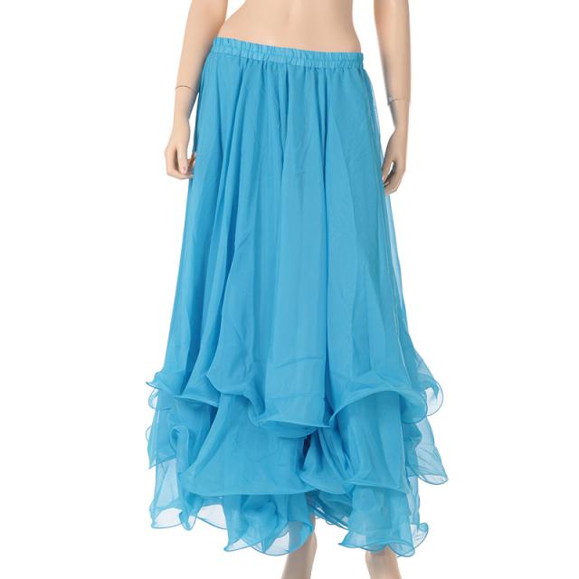 ベリーダンス衣装スカート10ヤード3段シフォンD11(ライトブルー)宅配便送料無料】
