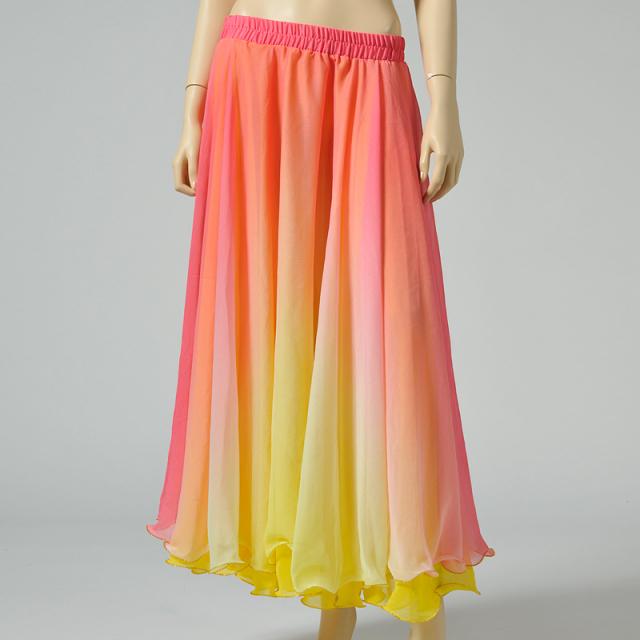 ベリーダンス衣装グラデーションスカートD13(ピンク×イエロー)【宅配便送料無料】