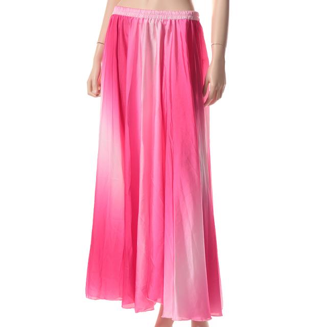ベリーダンス用サテングラデーションスカートD14(ピンク)【ネコポス便送料無料】