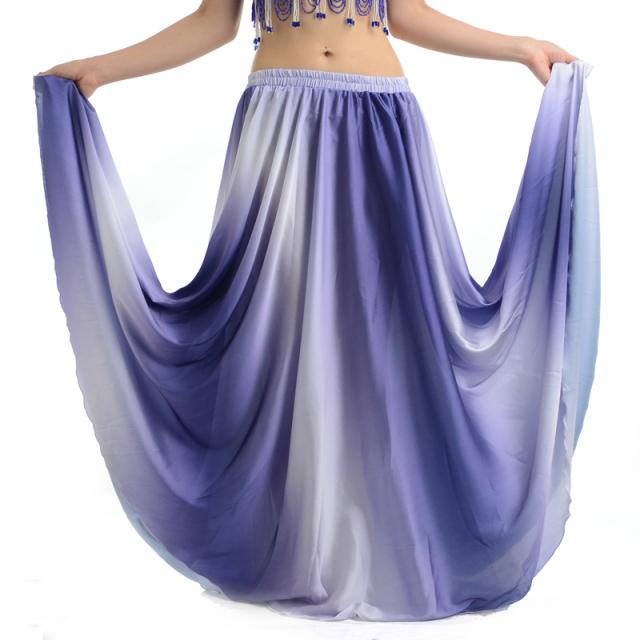 ベリーダンス用サテングラデーションスカートD14(ブルー)【ネコポス便送料無料】
