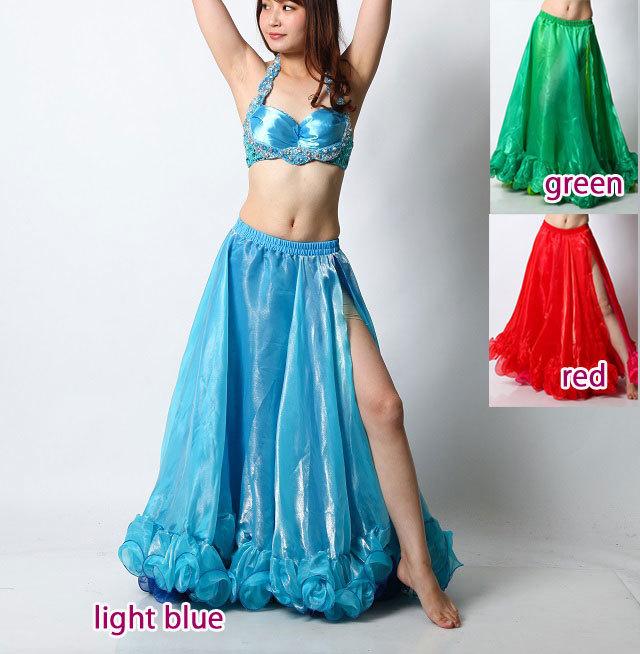 ベリーダンス2カラーオーガンジースカートD41(3 colors)【宅配便送料無料】