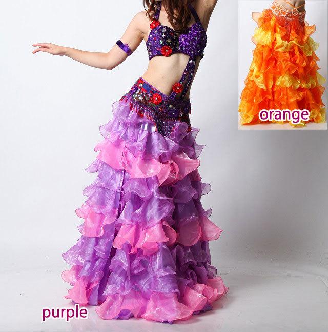 ベリーダンス用2カラーフリルスカートD43(2 colors)【宅配便送料無料】