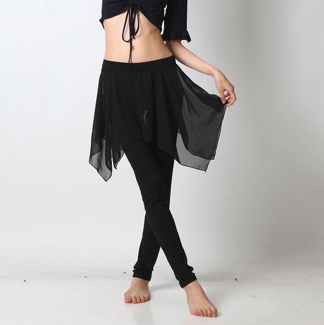 シースルースカート付きレギンスE102(ブラック)【ネコポス便送料無料】