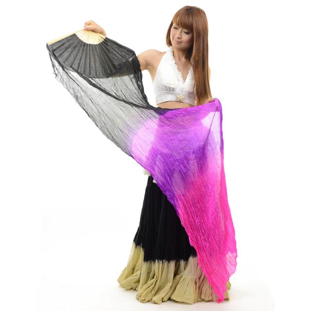 シルクファンベールFAN1-2(ブラック、パープル、ピンク)【宅配便送料無料】