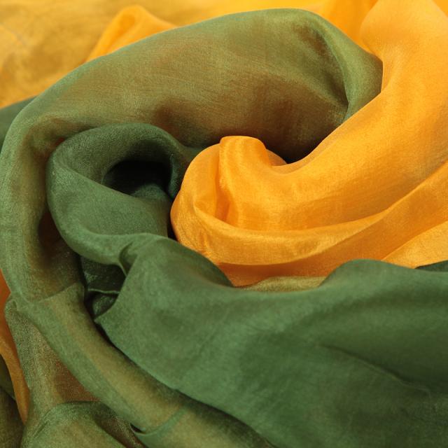 高級シルクベールR5-11サイズ236cm*110cm(3色:グリーン、ライトグリーン、黄)【ネコポス便送料無料】
